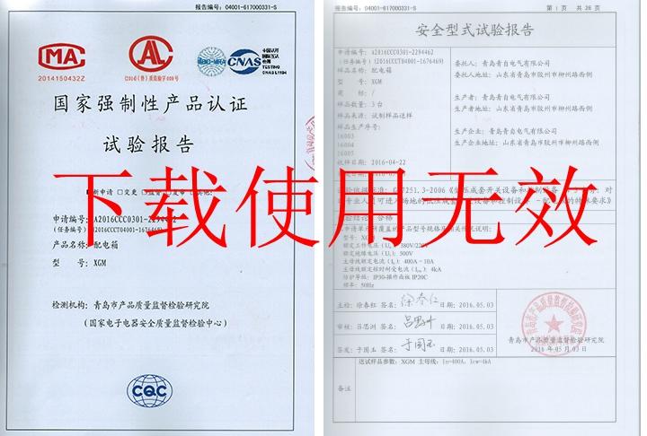 配电箱安全型式试验报告