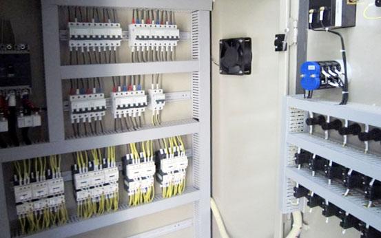 贝科钢结构在山东爱电定制低压柜